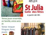 Dimanche TROC et JEUX à SaintJulia