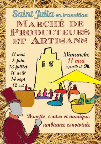 Affiche  marché St-Julia